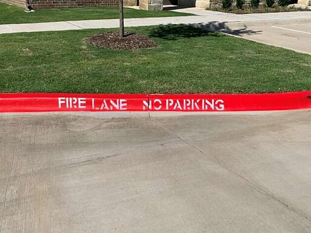 Recently Striped Fire Lane in Austin, TX