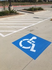 ADA Compliance Parking Lot Stenciling Austin TX