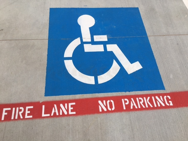 Handicap Stall Parking Lot Stencil